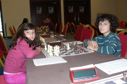 Anjali Walsh and Ciaran Walsh practicing in Porto Carras, the day before the start of the World Youth 2015