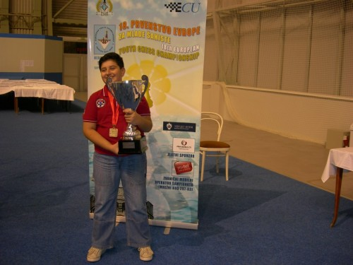 At the European Youth Championship in Herzeg NoviMontenegro in 2008, Cemil Can won gold under 10.