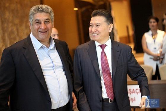 Azad Rahimov and Kirsan Ilyumzhinov