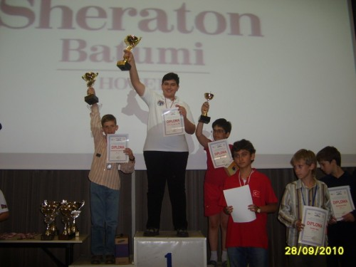 In 2010 he triumphed at Championship in BatumiGeorgia, in category U12
