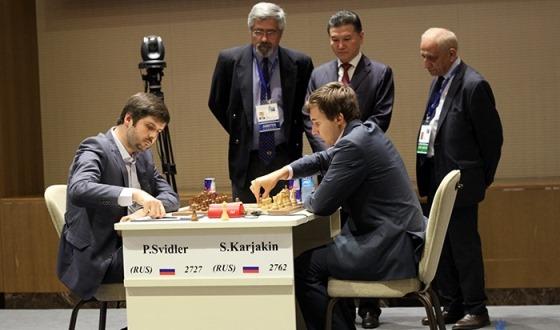 Sergey Karjakin evens the score in FIDE World Cup final