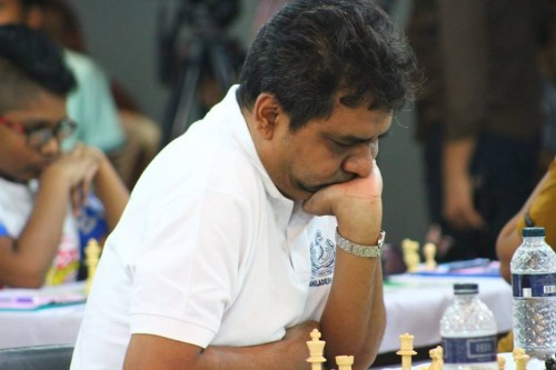 GM Rahman Ziaur during Round 1