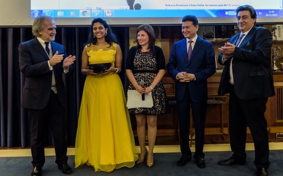 Harika Dronavalli winner of the 1st FIDE World Online Women Blitz Championship