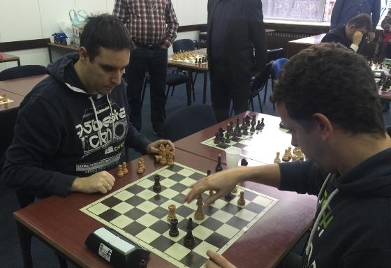 Tournament winner Ivan Radivojevic (left) in action