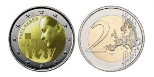Euro coin to mark 100 years since the birth of Paul Keres