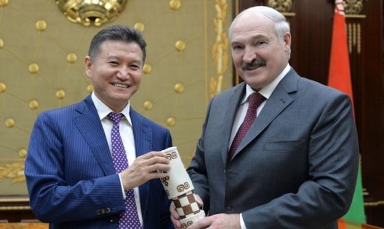 FIDE President Kirsan Ilyumzhinov and Belarus President Alexander Lukashenko