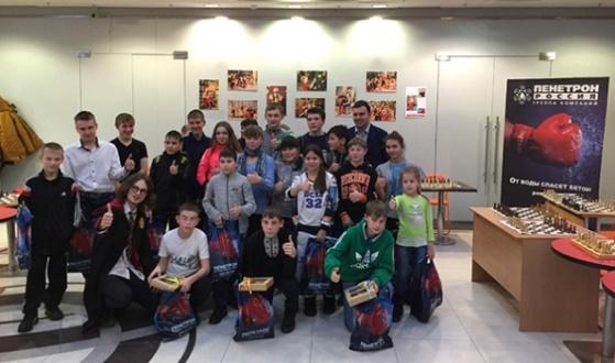 Igor Lysyj gives a simul to orphans of Sverdlovsk Region