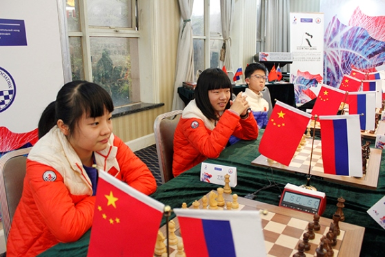 Russian schoolchildren defeated Chinese 1