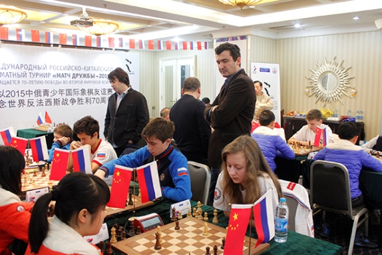 Russian schoolchildren defeated Chinese