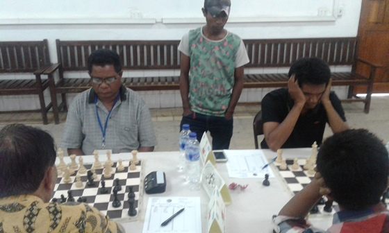 Timorese players in action