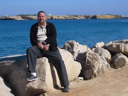 on the cliffs in Monastir