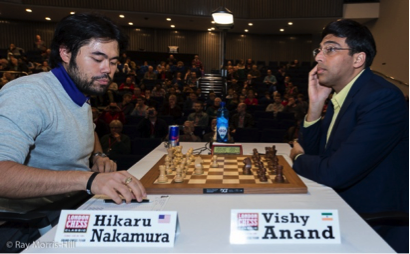 Nakamura increasing his career score against Anand to 6 wins to 1