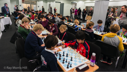 The English Junior Rapidplay gathered 63 young chess enthusiasts