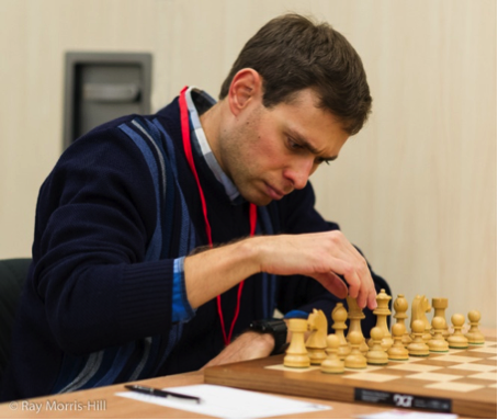 Evgeny Postny, top seed and joint leader of the FIDE Open