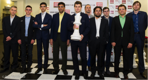The 10 participants of the 7th London Chess Classic