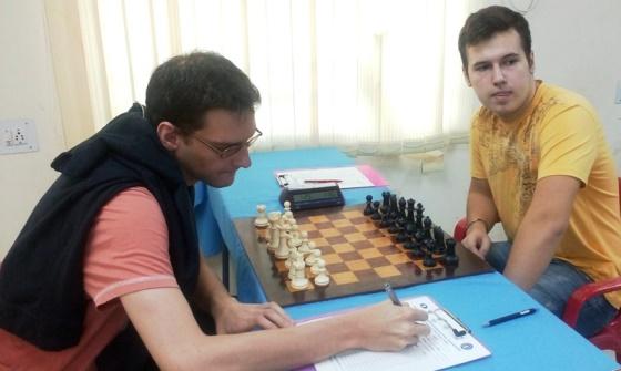 GM Grachev Boris (Russia) facing GM Bernadskiy Vitaliy (Ukraine)
