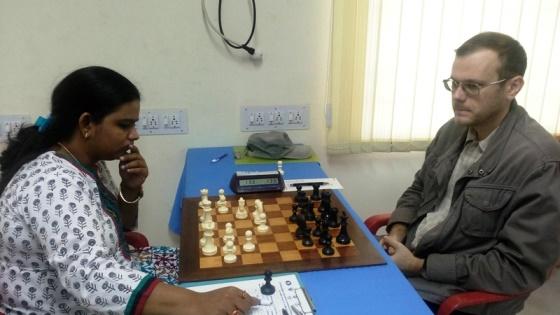 IM Vijayalakshmi Subbaraman playing GM Demchenko Anton of Russia