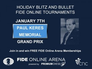 The tournaments dedicated to Paul Keres will be held on January 7th