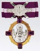 Queen Olga II state order, as the one Natalia Zhukova received from Petro Poroshenko