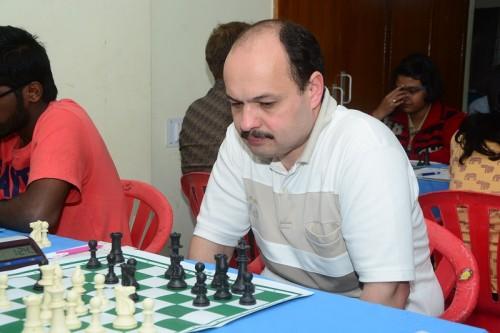 Joint leader GM Marat Dzhumaev (Uzbekistan)