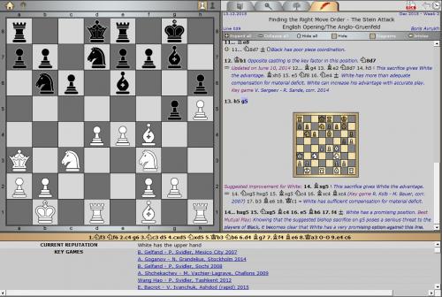 Pick of the Week by GM Boris Avrukh The Anglo-Grünfeld, Stein Attack [Key game: E. Bacrot – V. Ivanchuk, Ashdod (rapid) 2015]