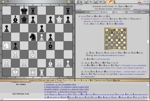 Opening Survey by GM Aleksandar Kovačević The Paulsen Sicilian: Bastrikov Variation [Key game: A. Morozevich – I. Bukavshin, Moscow (rapid) 2015]