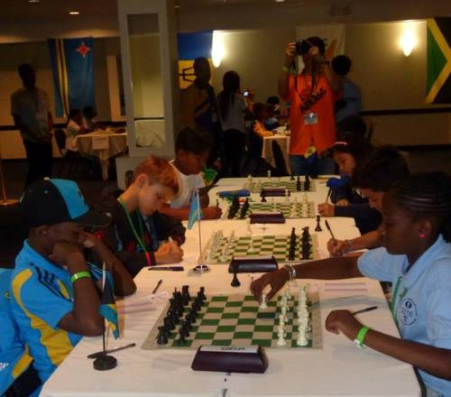 Participants thinking hard on their moves