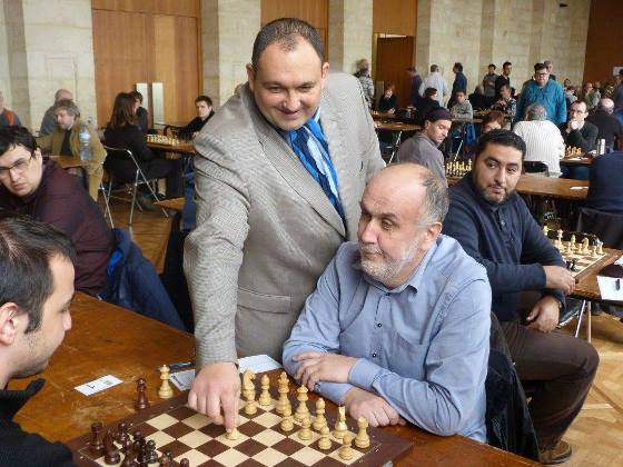 President of French Chess Federation Diego Salazar making first move