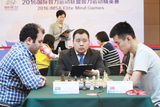 Rauf Mamedov in the key game against Ding Liren
