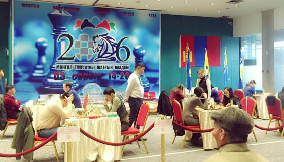 round 4 of the 1st Mongolian Nations chess tournament