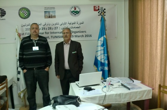 FIDE Seminar for International Organizers in Hammamet 2
