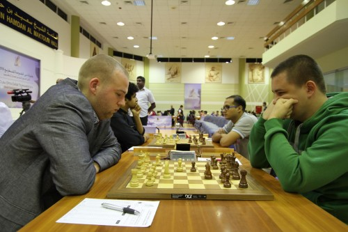 IM Robert Ris defeated GM Yuriy Kuzubov by an excellent positional exchange sacrifice