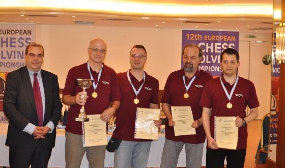 Stathis Efstathopoulos, Miodrag Mladenović, Bojan Vučković, Marjan Kovačević, Vladimir Podinić