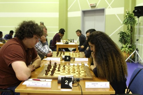 IM/ WGM Lilit Galojan (2303) drew against joint top seed GM Anton Korobov (2695)