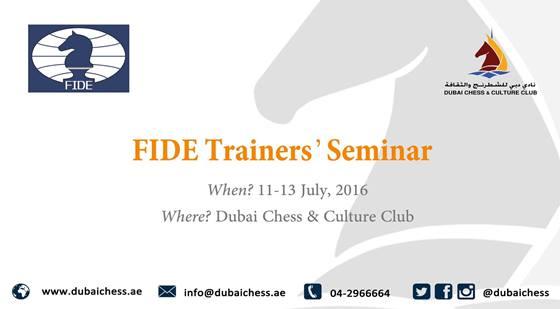 Dubai Chess Club organises Fide Trainer's Seminar