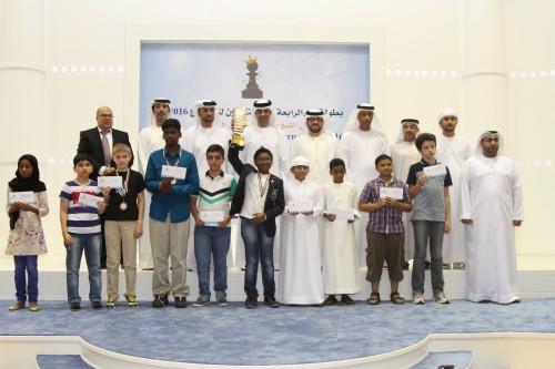 14th Dubai Juniors Chess Tournament winners
