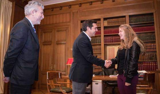 Alexis Tsipras and Stavroula Tsolakidou