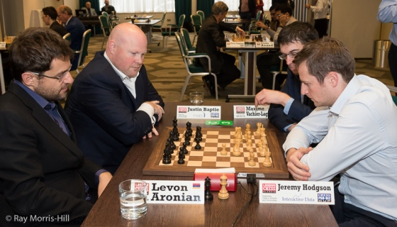Vachier-Lagrave and Hodgson against Aronian and Baptie