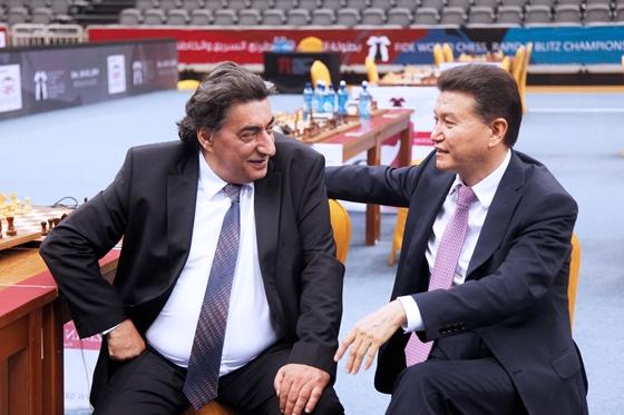 Georgios Makropoulos and Kirsan Ilyumzhinov