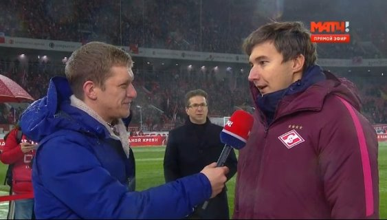 Sergey Karjakin opened Spartak-Rubin football match
