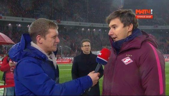 Sergey Karjakin opened Spartak-Rubin football match