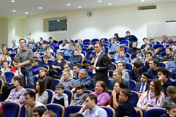 Sergey Karjakin's workshop at Moscow State University