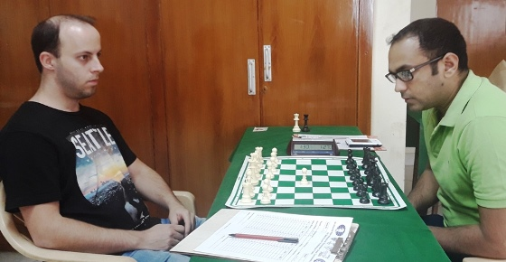 GM Horvath Adam (Hungary) playing Jaiswal Puneet (India)