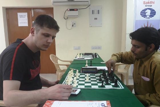 GM Stopa Jacek (Poland) playing Tiwari Arjun (India)