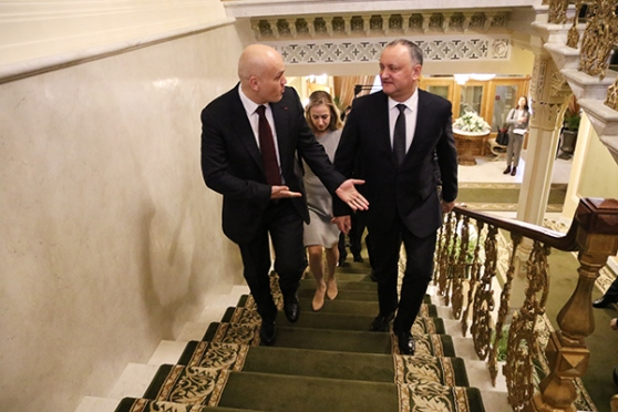 President of Moldova visits Central Chess Club in Moscow 3