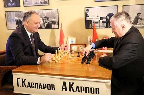 President of Moldova visits Central Chess Club in Moscow 4