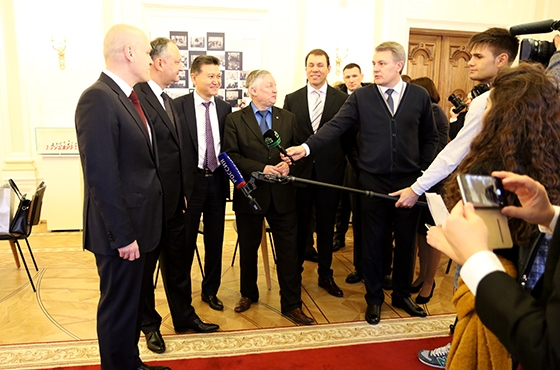 President of Moldova visits Central Chess Club in Moscow 5