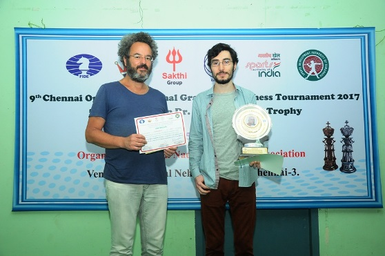 Runner Up GM Alberto David (Italy), Champion GM Tukhaev Adam (Ukraine)