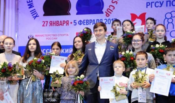Sergey Karyakin awarded the winners of the RSSU Cups