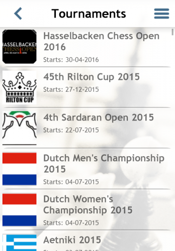 The top tournaments from around the world will be live daily on your mobile